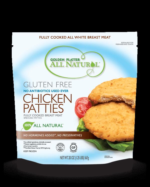 Gluten Free Antibiotic Free Chicken Patties